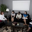 Group Of People Talking In A Living Room — Stock Photo