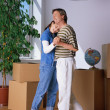 Couple Dancing In New Home — Stock Photo