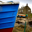 Weathered Boat Hull, Boulmer, Northumberland, England — Stock Photo