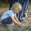 Child Playing In The Sand — Stock Photo