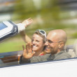 Couple In Convertible — Stock Photo