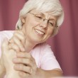 Woman Holding The Hand Of The Elderly — Stock Photo