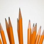 Set of yellow pencils — Stock Photo
