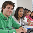Students In A Classroom With A Laptop — Stock Photo