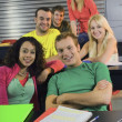 College Students In A Classroom — Stock Photo