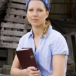 Female Missionary With Bible — Stock Photo