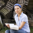 Stock Photo: Female Missionary With Open Bible