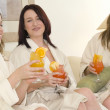 Girl Friends At A Spa — Stock Photo