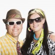 Couple Dressed In 1970's Clothing — Stock Photo #31938109