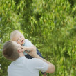Father Playing With His Young Son — Stock Photo