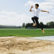 Man Doing Long Jump — Stock Photo