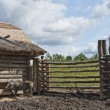 Pig Pen At Slemko Barn, UkrainiCultural Heritage Village — Stock Photo #31938617