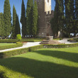 Italian Gardens And Castle. Conigliano, Veneto, Italy — Stock Photo