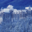 Stock Photo: Banff Springs Hotel, Banff National Park Alberta, Canada