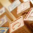 Wooden Alphabet Blocks — 图库照片