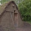 Stock Photo: Primitive Dwelling With Sod Roof