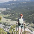 Woman Hiking In The Mountains — Stock Photo
