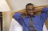 Relaxing In His Hotel Room — Foto Stock