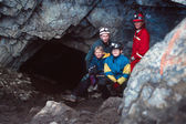 Portrait Of Family Caving — Stock Photo