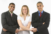 Business Colleagues Holding Hands — Stock Photo