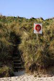 Steps To Beach, Northumberland, England — Stock Photo