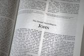 The Bible Opened To The Book Of John — Stock Photo