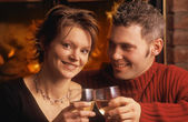 Married Couple Cheers — Stock Photo