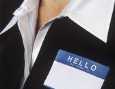 Blank Name Tag — Stock Photo