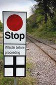 Panneau d'arrêt, north yorkshire, angleterre — Photo