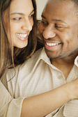 Portrait Of Smiling Afro American Couple — Stock Photo