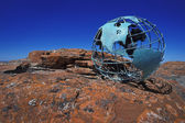 Globe On Rock — Stock Photo