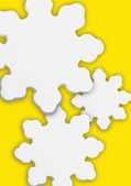 Stylized Snowflakes With Yellow Background — 图库照片