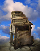 Electric Chair Against A Background Of Clouds — Stock Photo
