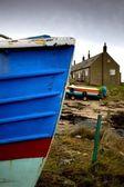 Weathered Boat Hull, Boulmer, Northumberland, England — Stock Photo
