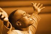 Man Worshipping — Stock Photo
