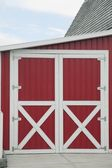 Red Barn With White Trim — Stock Photo