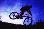 Bicycle Stunt — Zdjęcie stockowe