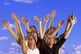 People Raised Their Hands — Stock Photo