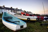 Boats, Craster, Northumberland, England — Stock Photo