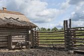 Pig Pen At Slemko Barn, Ukrainian Cultural Heritage Village — Stock Photo