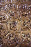 Baked Cinnamon Buns — Stock Photo