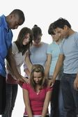 Diverse Group Of Young Adult Christians Praying — Stock Photo