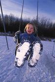 Child On Swing — Foto de Stock