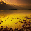 Stock Photo: Lake At Dusk