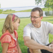 Father And Daughter  At The Park — Stock Photo