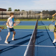 Group Of Tennis Players On A Court — Stock Photo