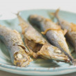 Plate Of Fried Fish — Foto Stock