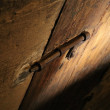 Rustic Door Latch — Stock Photo