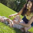 Stock Photo: Mother And Son Outdoors