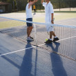 Doubles Tennis Players On A Court — Stock Photo